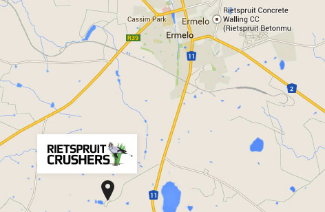Rietspruit Crushers Location Map